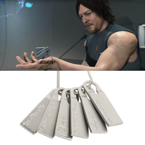 Death Stranding Necklace Chemical Fomula Alloy Pendant Souvenir Cosplay Prop