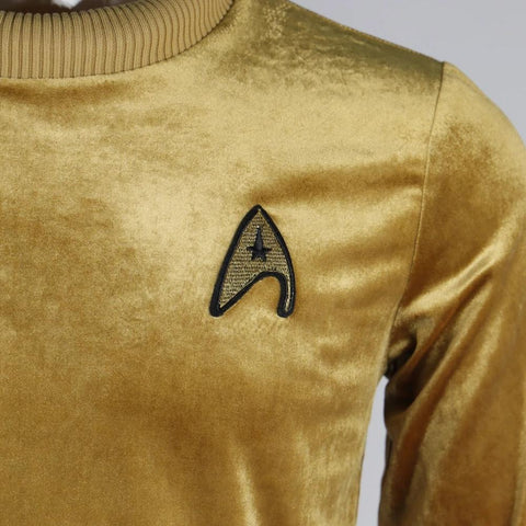 Star Trek The Original Series TOS Captain Pike Kirk Top Shirt Cosplay Uniform Halloween Costumes Man Adult