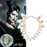 2019  Maleficent 2 LED Necklace Vintage Bird Beak Skull Charm LED Necklace Halloween Cosplay Accessories