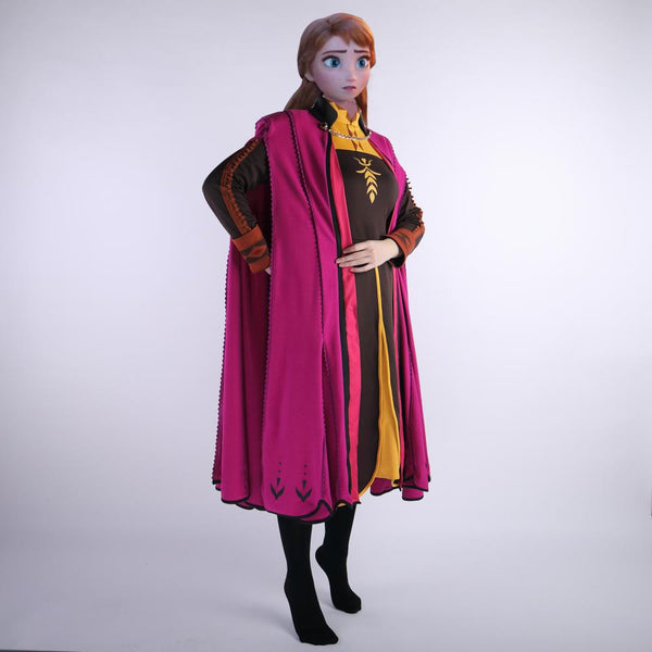 Frozen 2 Snow Queen Anna Elsa Princess Cosplay Costume Outfit Full Set Halloween Costumes Fancy Dress