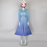 New Frozen 2 Cosplay Snow Adult Elsa Dress Costume Halloween Cosplay Elsa Anna Costume Princess Ice Queen Elsa Outfit Full Set