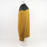 Star Trek TNG Captain Picard Red Uniform Top Jacket Voyager DS9 Yellow Cosplay Costumes Halloween Party Prop