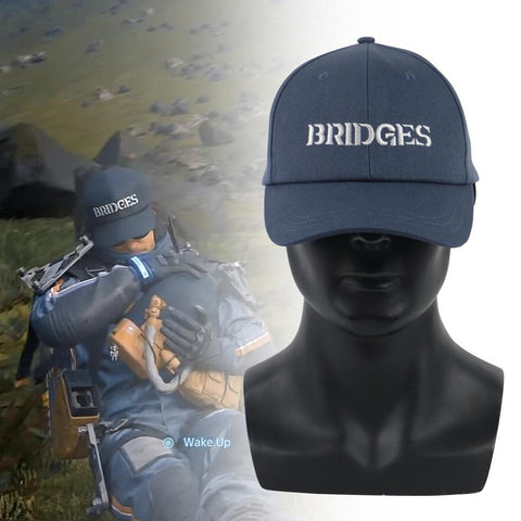 Death Standing Hat Sam Blue Birdges Embroidery Baseball Sun Caps Adjustdble Cosplay Prop