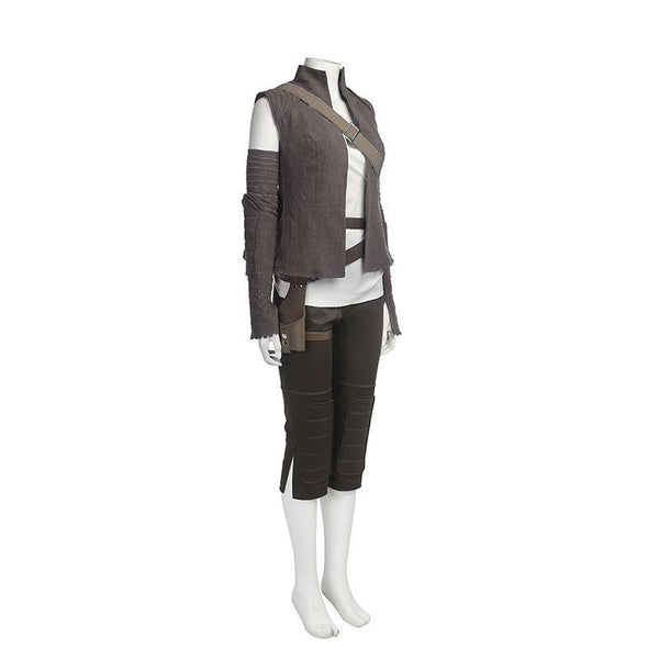 Star Wars Episode VIII: The Last Jedi Rey Cosplay Costume Custom Made Full Size