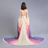 Stars Wars Padme Naberrie Amidala Cosplay Costume Fancy Backless Evening Dress