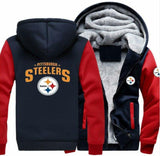 Pittsburgh Steelers Casual Hooded Warm Sweatshirts Male Thicken Tracksuit