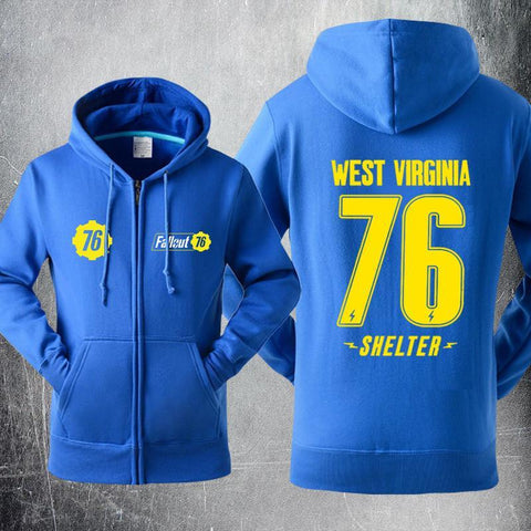 Fallout 4 West Virginia 76 Shelter Sweater Cosplay Hoodies Jacket