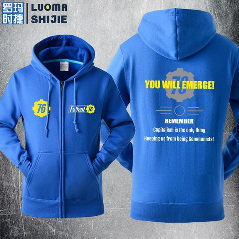 Fallout 4 You Will Emerge Sweater Cosplay Hoodies Jacket