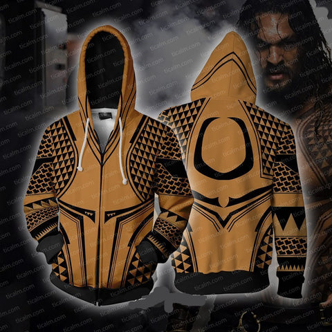 Marvel Movie Aquaman Hoodie Sweater Jacket Cosplay Costume For Adult