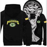 Green Bay Packers Casual Hooded Warm Sweatshirts Male Thicken Tracksuit