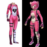 Fortnite Cuddle Team Leader Bear Jumpsuit Halloween Cosplay Costume