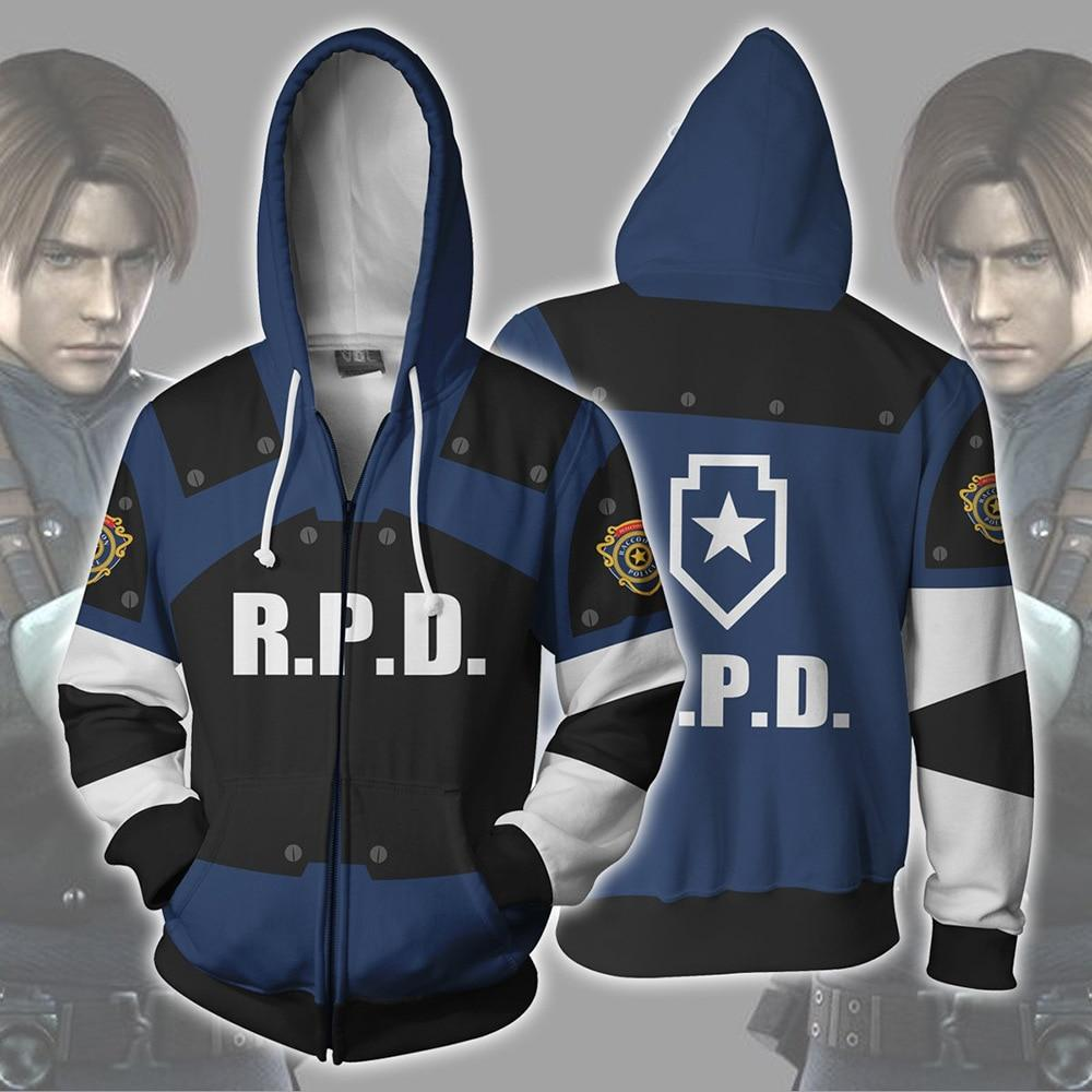 Cosplay Costume Resident Evil 2 Hoodies Halloween Cosplay Leon