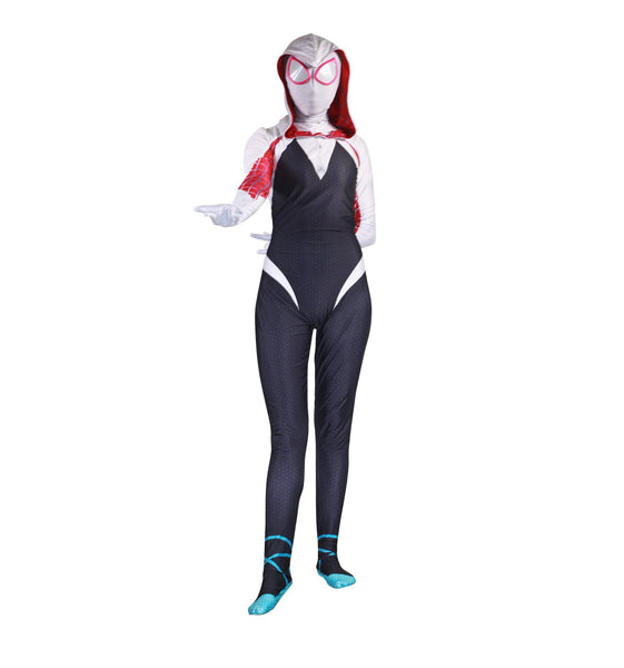 Gwen Stacy Spider-Man Tights Cosplay Jumpsuits Spiderman Zentai  Bodysuit