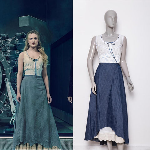 Westworld Season 2 Dolores Blue Dresses Cosplay Costume Clearance sale