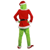 Movie How the Grinch Stole Christmas Cosplay Costume The Grinch Deluxe  Outfit  Halloween Fancy Dress