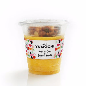 Premium Ice Cream With Japanese Granola - Flavor: Mango - 340 ml