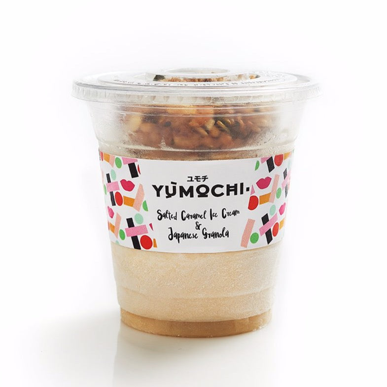 Premium Ice Cream With Japanese Granola - Flavor: Salted Caramel - 340 ml