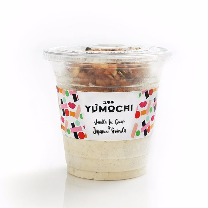 Premium Ice Cream With Japanese Granola - Flavor: Vanilla - 340 ml
