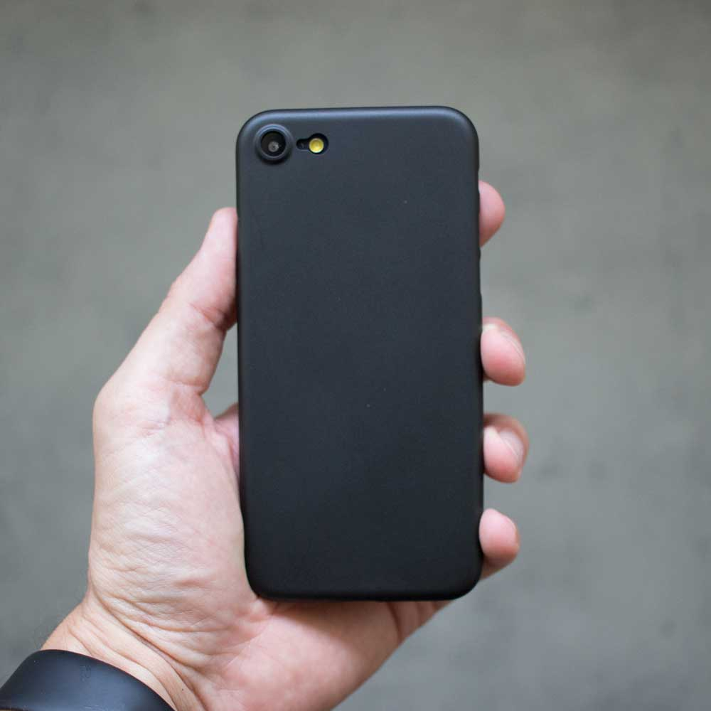 Ultra Thin iPhone SE Case - Matte Black