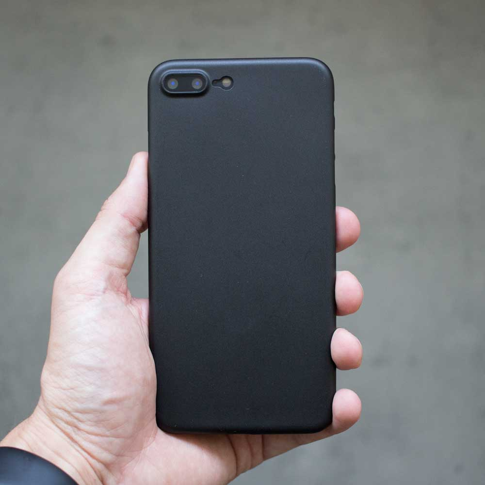 Ultra Thin iPhone 7 Plus Case - Matte Black