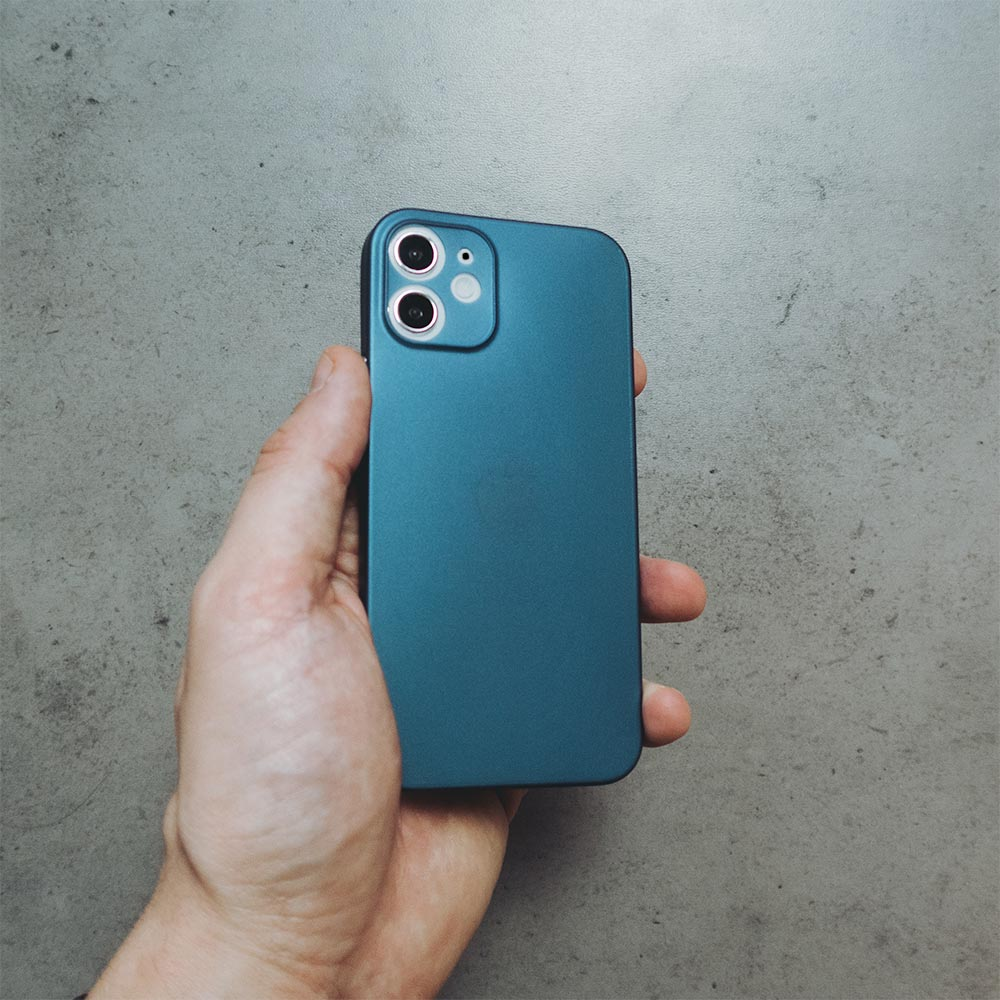 Ultra Thin iPhone 12 Mini Case - Dark Blue
