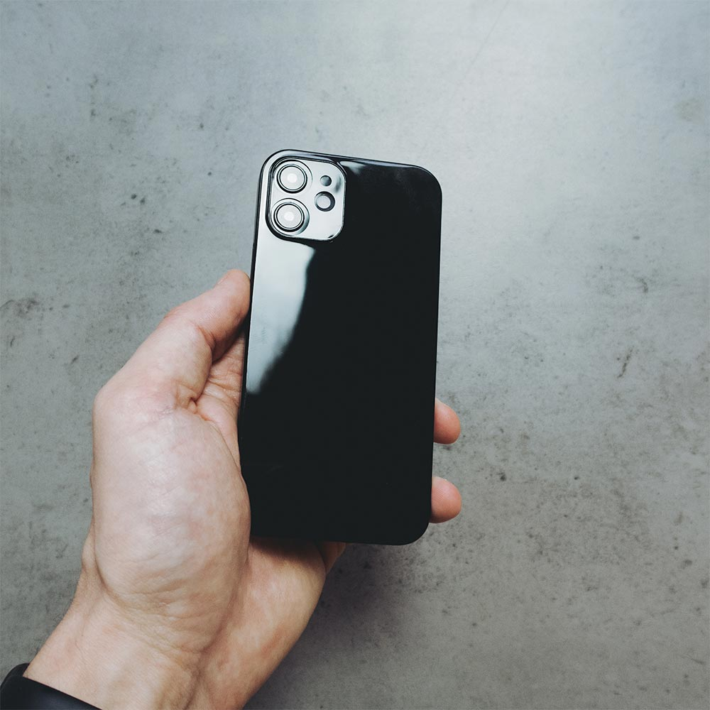 Ultra Thin iPhone 12 Mini Case - Jet Black