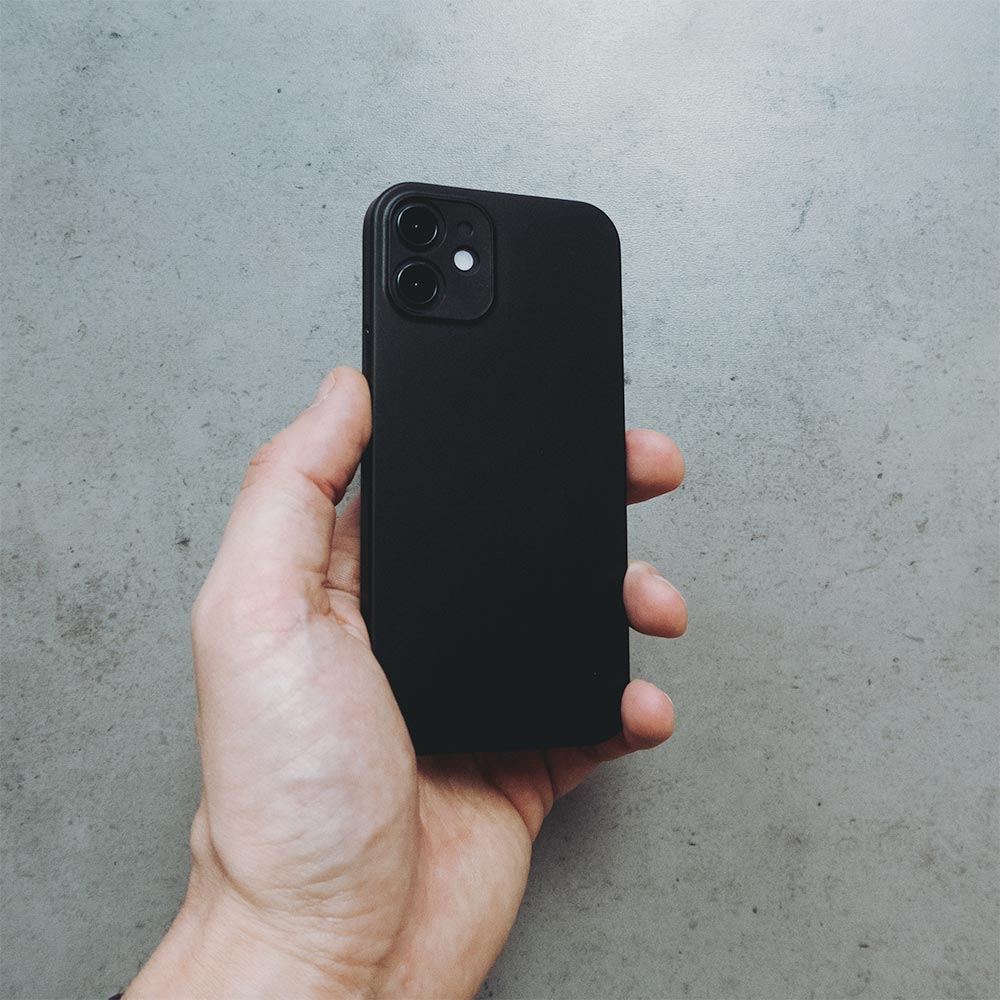 Ultra Thin iPhone 12 Mini Case - Matte Black