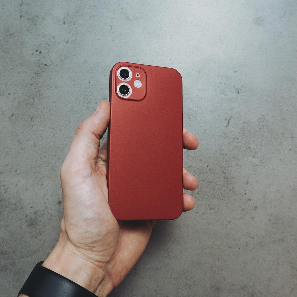 Ultra Thin iPhone 12 Mini Case - Red