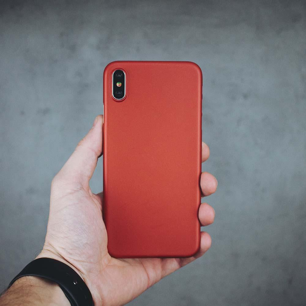 Ultra Thin iPhone XS Max Case - Red