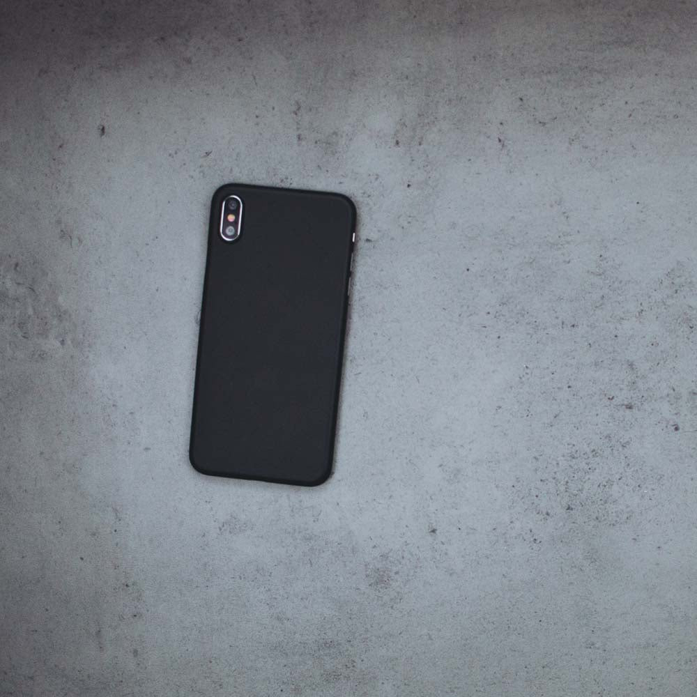 Ultra Thin iPhone XS Max Case - Matte Black