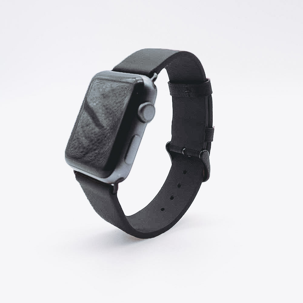 Apple Watch Leather Strap - Black / 38/40mm