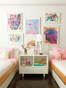 kids artwork as beautiful art for your home