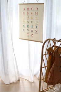Rainbow Mother Mantra Alphabet Print