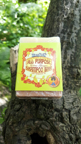Knotty Boy Citrus Ginger Allzweck Shampoo-Bar Haupt