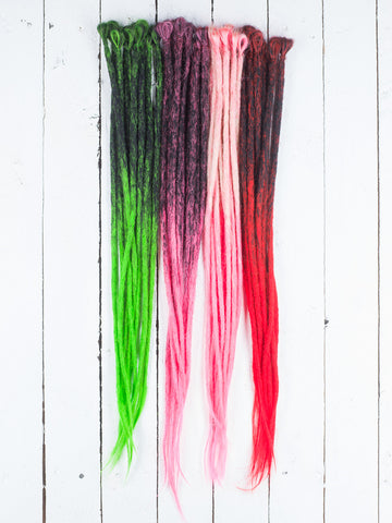 Dreadlab -Einfach-Endende Synthetische Dreadlocks (Pack Of 10) Ombre Häkeln Extensions