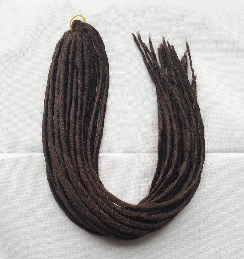 Elysee Star - #4 Dark Brown Synthetische Dreadlocks (Doppelendend) (10 Pack)