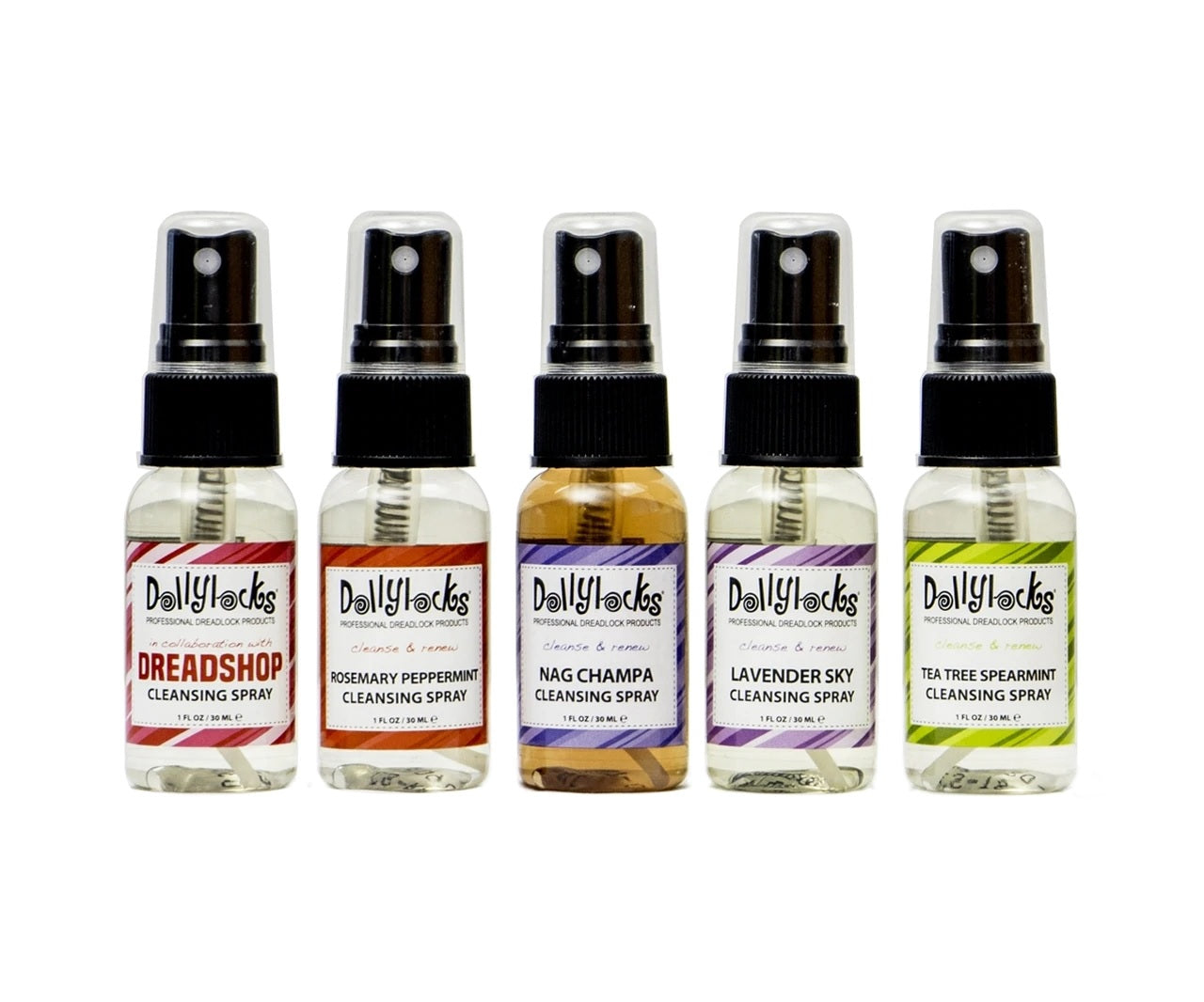 Dollylocks-Dreadlocks Reinigungsspray Reisegröße Set (5x 1oz)