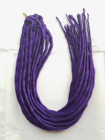 Elysee Star - #Dark Purple Synthetische Dreadlocks (Zweifach Endend) (10 Pack)