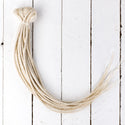 DreadLab doppel-endende Dreadlock Extensions Weiß Blass Blond
