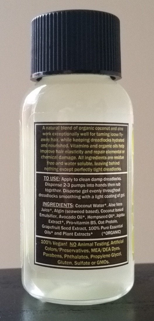 Dollylocks - Dreadlocks Gel Coconut, Aloe & Lime (1oz/30ml/Reisegröße)