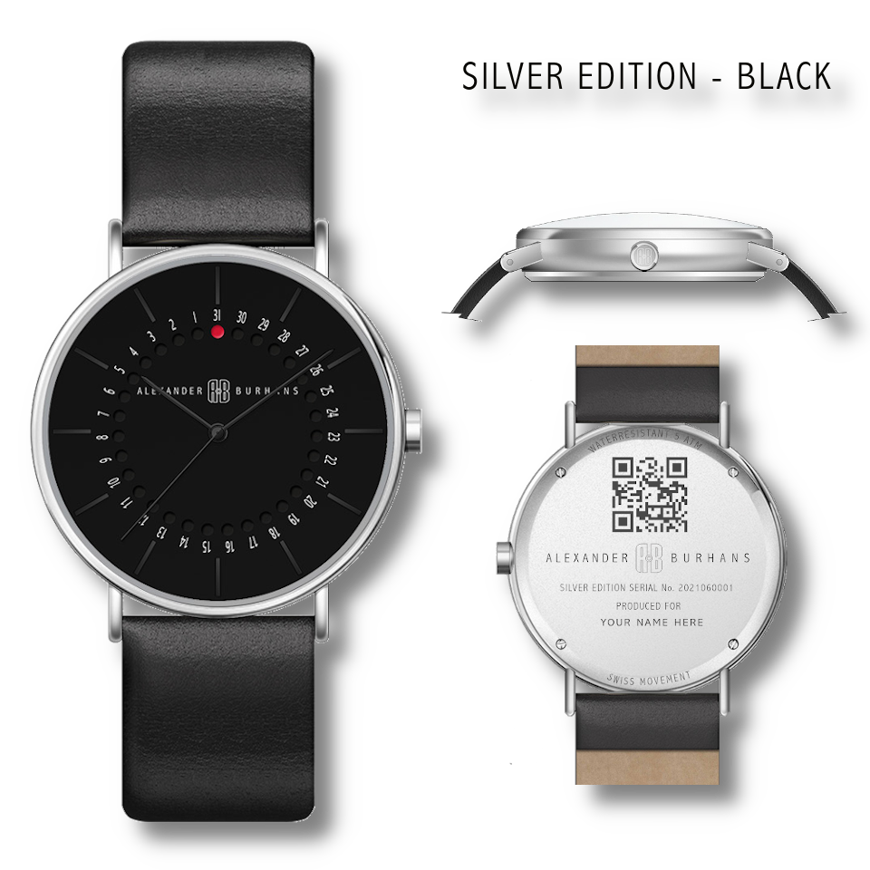 Silver Watch Edition - Black