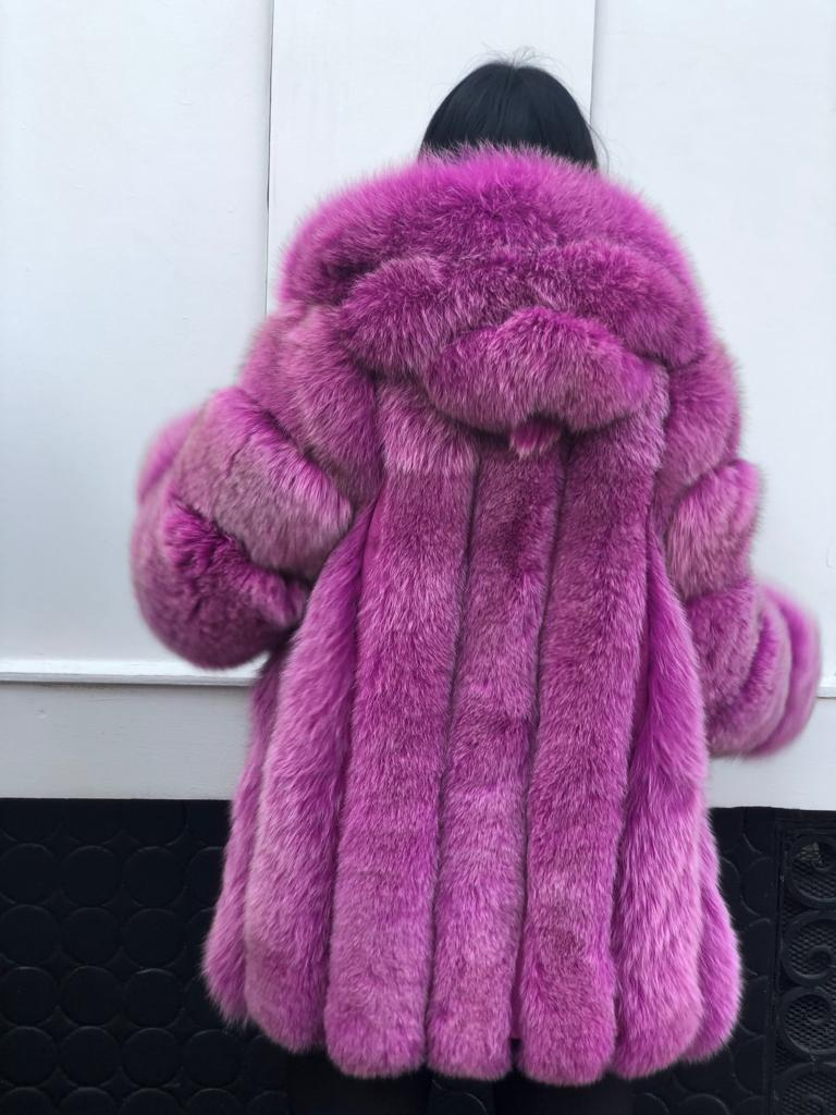 Hooded straight coat