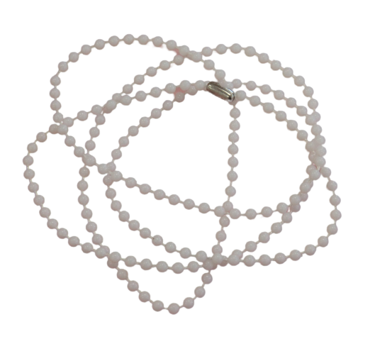 Necklace Ball Chain - White Plastic 760mm