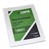 Tab Dividers A4 White - Pack of 10