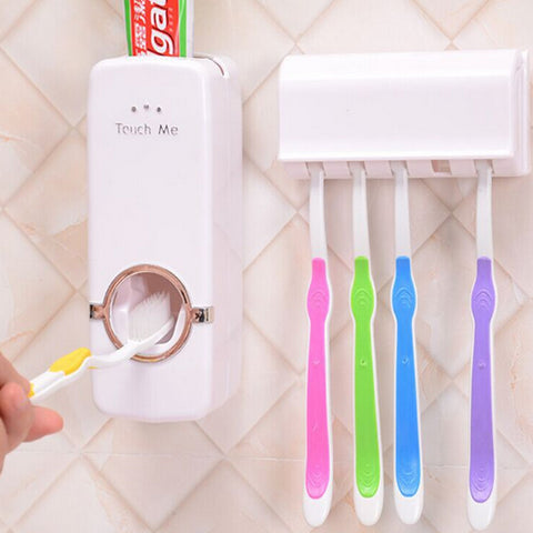 Automatic Toothpaste Dispenser w/ FREE Toothbrush Holder