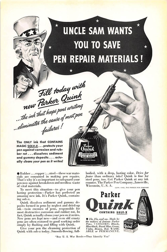 The Story Behind Parker Quink Fountain Pen Ink