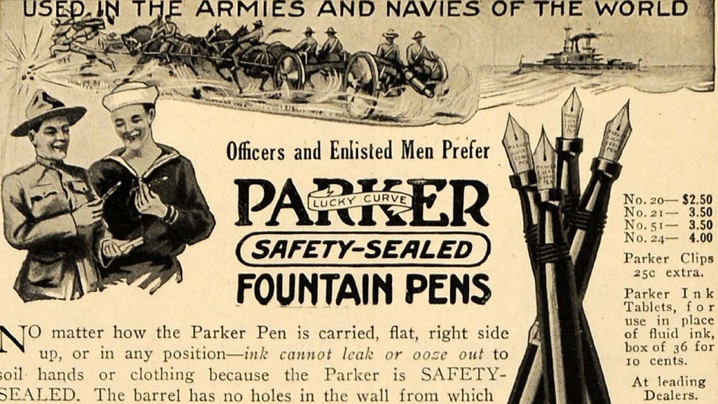 Pen Ads from World War I