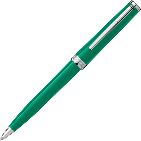 Montblanc Pix Ballpoint Pen - Emerald Green Chrome Trim