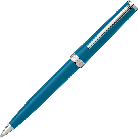 Montblanc Pix Ballpoint Pen - Petrol Blue Chrome Trim
