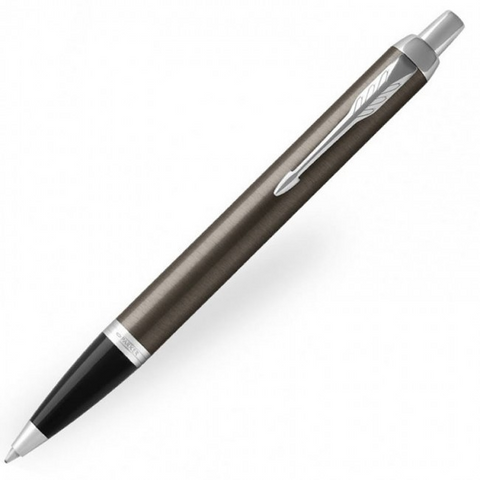 Parker IM Ballpoint Pen - Dark Espresso Lacquer Chrome Trim - Refill Blue Medium (M)